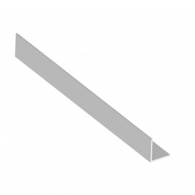 White 25mm X 25mm Corner Angle X 5m Length