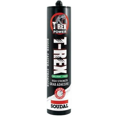 SOUDAL SOLVENT FREE T-REX GRAB ADHESIVE SEALANT HIGH STRENGTH FIBRE 310ML