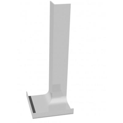 White 300mm Single Internal Fascia Corner
