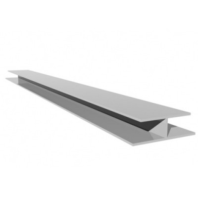 White Soffit Board Joint Trim X 5m Length