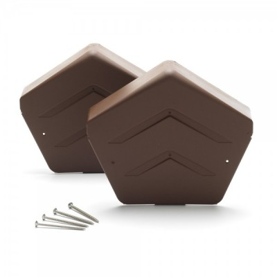 Brown Angled Ridge End Cap