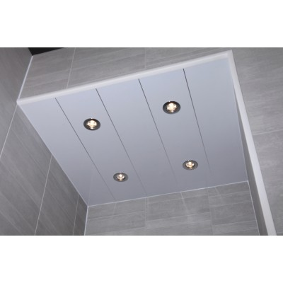 White Gloss Inc Silver Strip Bathroom Ceiling,Wall Cladding