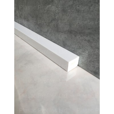 White 25mm X 20mm Rectangle X 5m Length