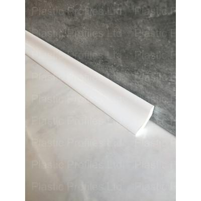 White Upvc Plastic 22mm Scotia Trim X 5m Length Plastic