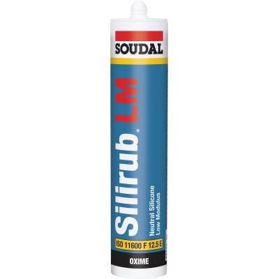 SOUDAL SILIRUB SILICONE SEALANT LOW MODULUS NEUTRAL CURE 300ml VARIOUS COLOURS