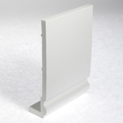 White Ogee Capping Fascia 405mm Double Edge
