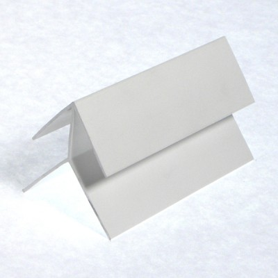 White Shiplap Cladding External Corner X 5m Length