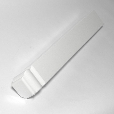 White Ogee 300mm Single Fascia Corner