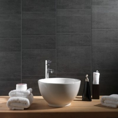 Anthracite Tile Effect Bathroom Wall Cladding