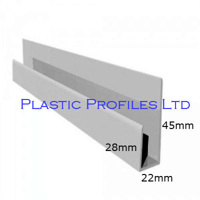 White Shiplap Cladding Universal Channel X 5m Length