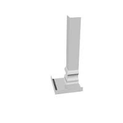 White Ogee 500mm Double Internal Fascia Corner