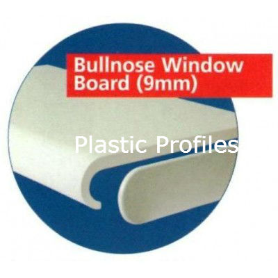White Bullnose 300mm Single Ended Endcap