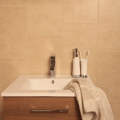 Sandstone Tile Effect Bathroom Wall Cladding